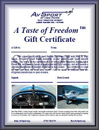 Discovery Flight gift certificate