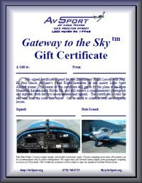 Introductory Lesson gift certificate
